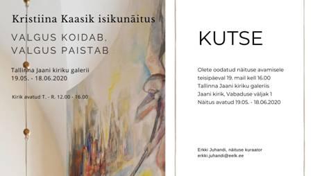 """Kristiina Kaasiku isikunäitus """"Valgus koidab. Valgus paistab"""""""