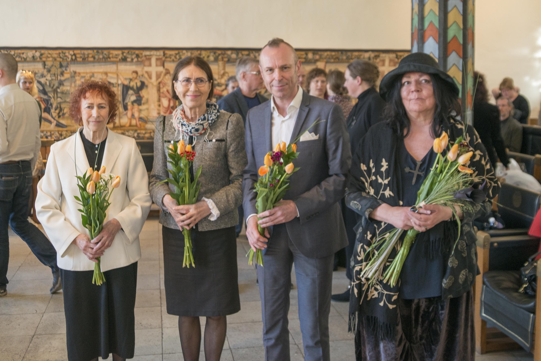 Laureaadid 2017: Tiiu Pallo-Vaik, Mare Mikoff, Harry Liivrand, Kadri Mälk
