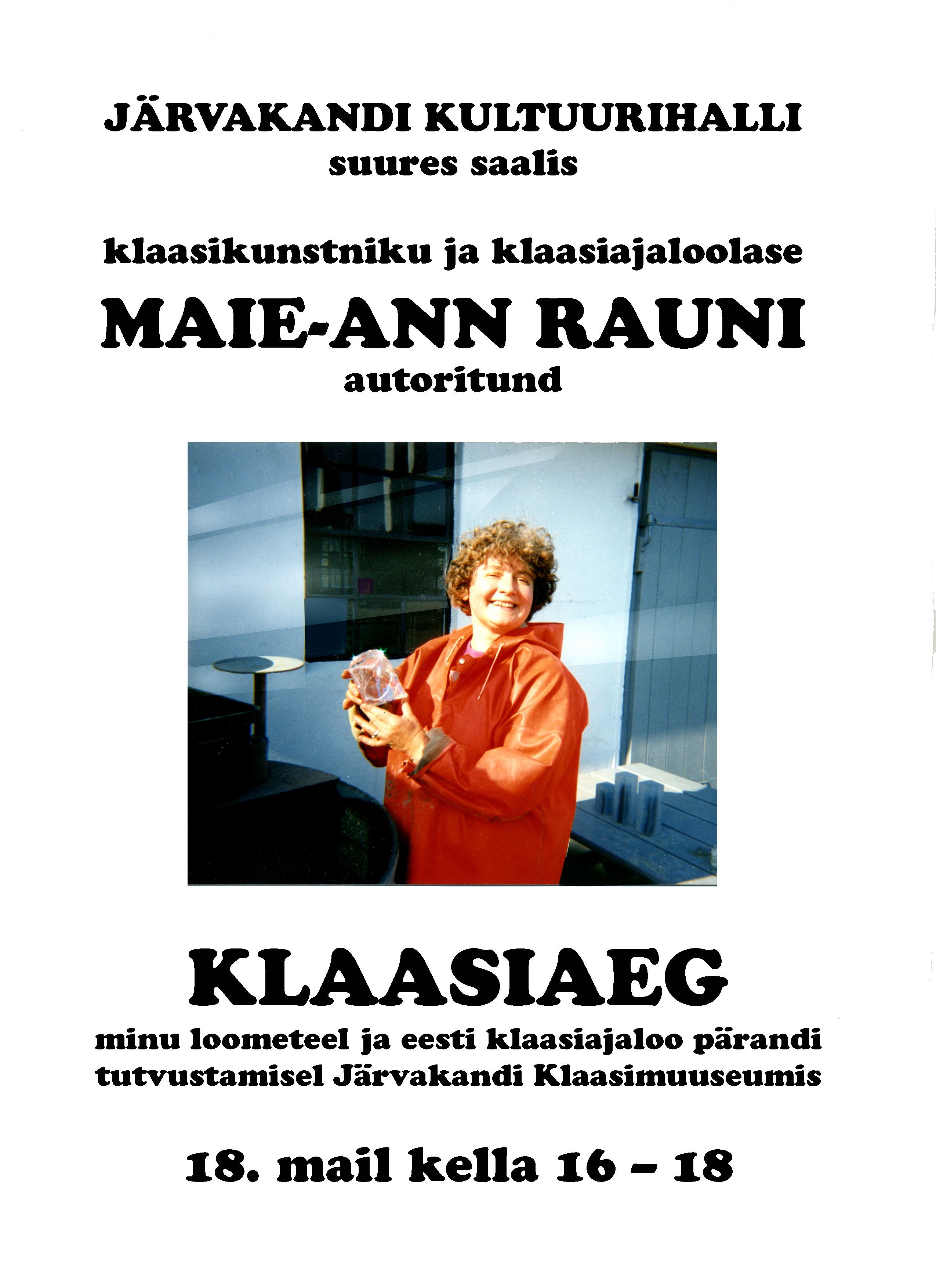 Maie-Ann  Raun Järvakandi Klaasimuuseumis